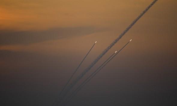 Foguetes são lançados da Faixa de Gaza