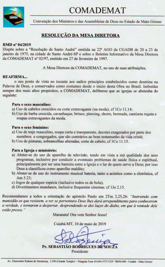 Resolução da COMADEMAT (Foto: JM Notícia)