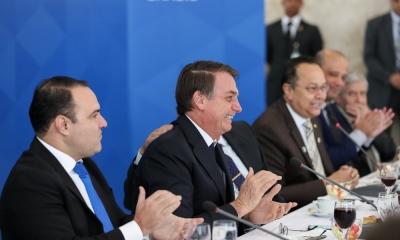 O presidente Jair Bolsonaro recebeu deputados da bancada evangélica para um café da manhã