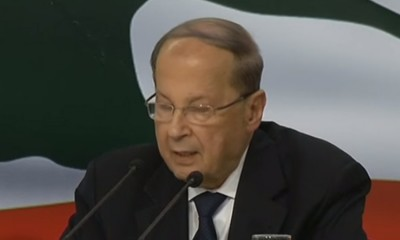 Presidente do Líbano Michel Aoun