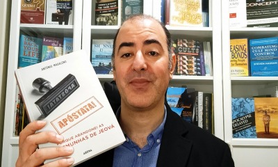 António Madaleno com o livro Apóstata