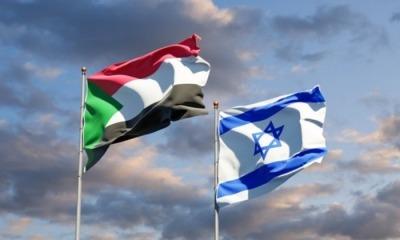 Bandeiras do Sudão e de Israel