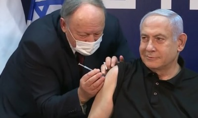 Benjamin Netanyahu recebe vacina contra covid-19