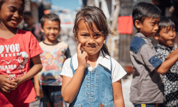 Crianças da Ásia Central