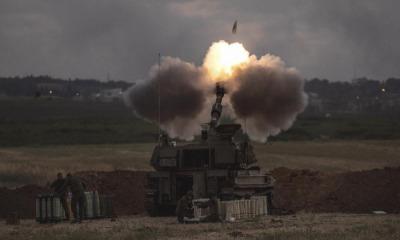 Unidade de artilharia dispara contra alvos em Gaza