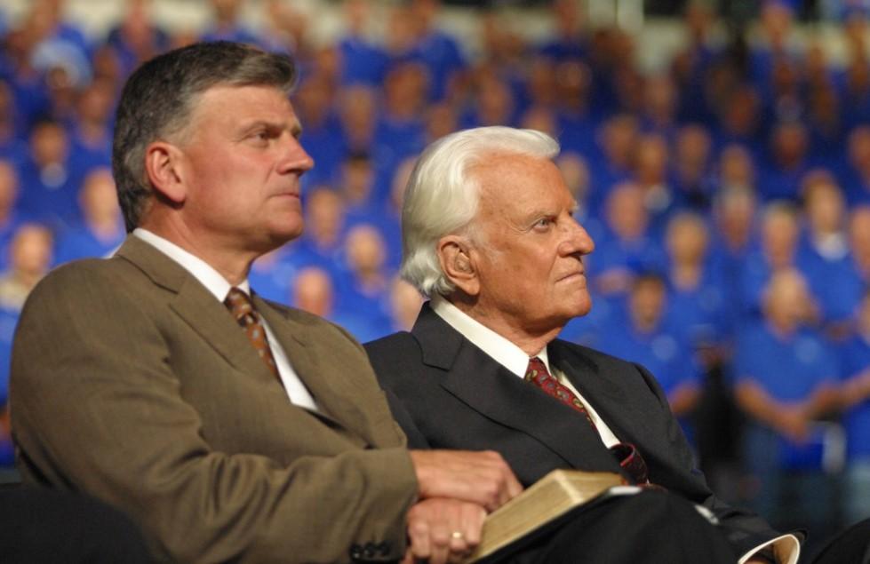 Franklin Graham com o pai, Billy Graham