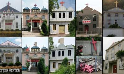 Igrejas com cruzes removidas