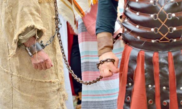 Jesus sendo preso