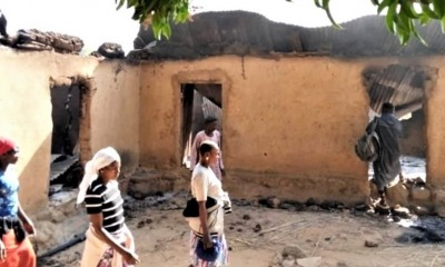 Local destruido em ataque Fulani