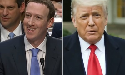 Mark Zuckerberg e Donald Trump