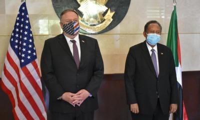 Secretário de Estado Mike Pompeo no Sudão