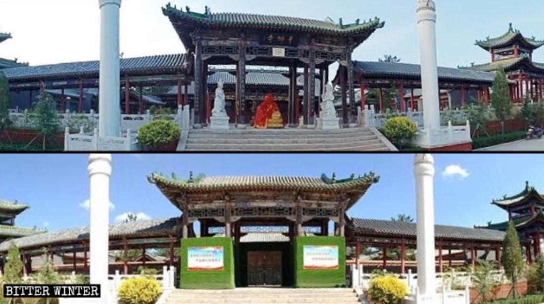 Templo descaracterizado na China