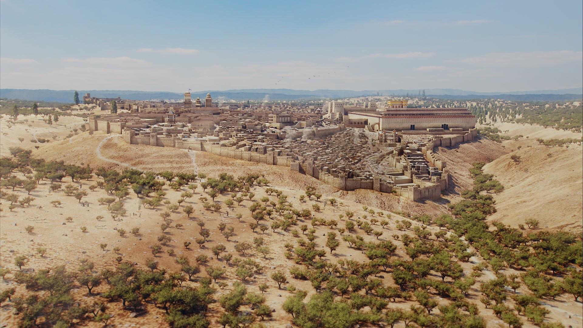 Templo reconstruído por Herodes nos tempos de Jesus (FreeBiblieImages.org)