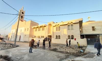 Uma das igrejas a ser visitadas pelo Papa no Iraque