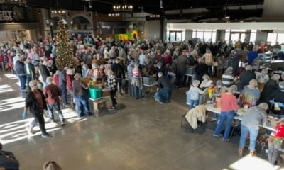 Voluntários da Igreja Hope City organizam alimentos